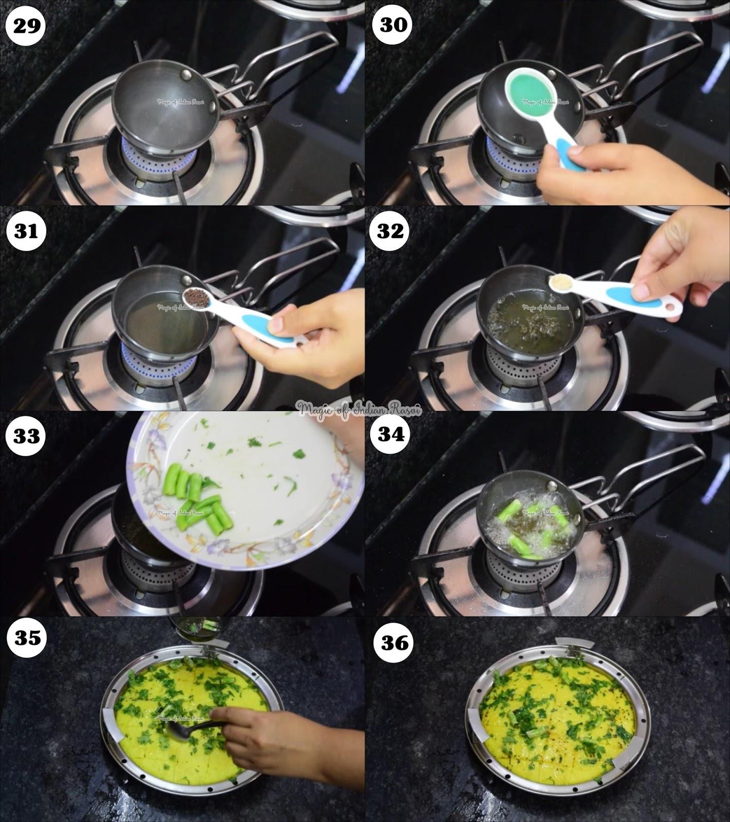 Rice & Chana Dal Dhokla - Khaman Dhokla - Soft & Spongy Recipe - चावल और चना दाल का खमण ढोकला  रेसिपी - Priya R - Magic of Indian Rasoi