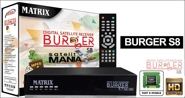 Panduan Umum Receiver Matrix Burger S8 HD 2018