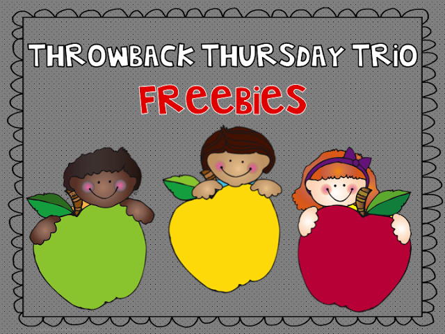 Fern Smith, Teach123 and Teaching Friends's Throwback Thursday Giveaway at Fern Smith's Classroom Ideas. Be sure to come back each week to see what three great product my friends and I are giving away! Terrific teacher resources for kindergarten, first grade ,second grade, third grade, fourth grade, fifth grade and sixth grade.