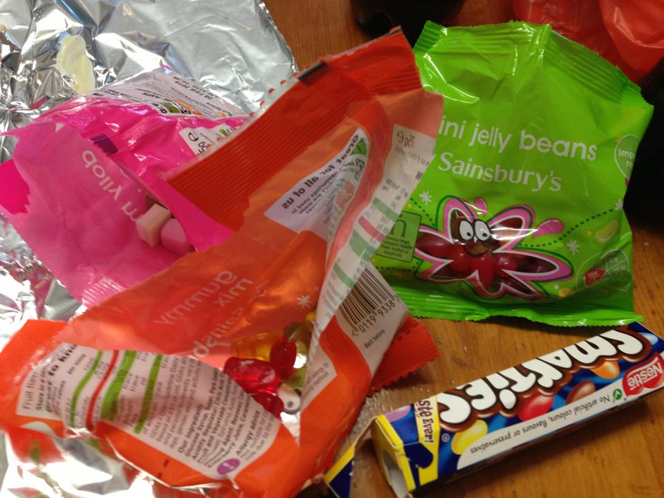 Selection of sweets from Sainsburys