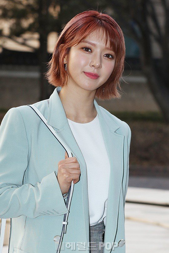 Beautiful Choa Attends Announcer Jo Woo Jong Jung Da Eun