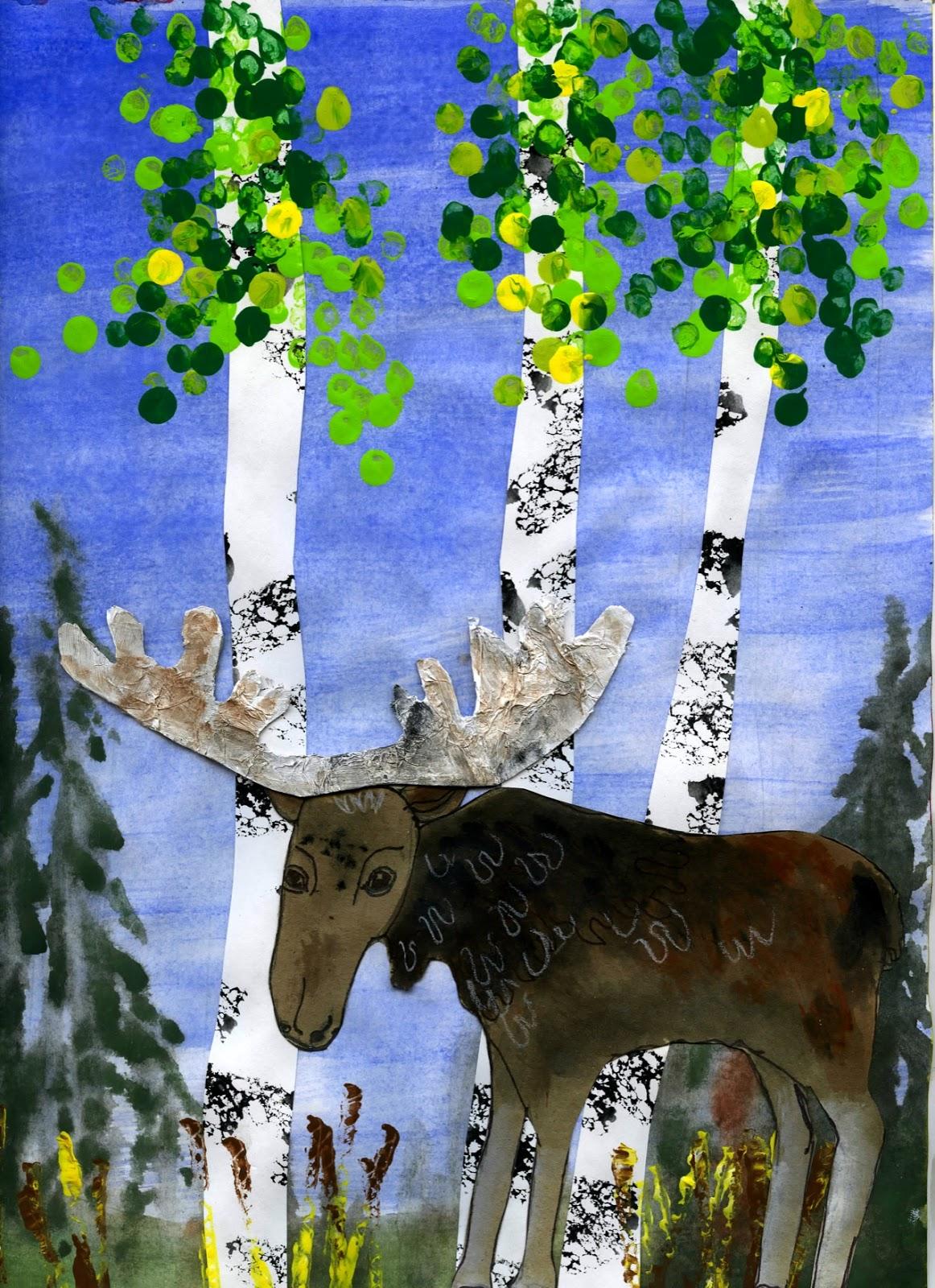 moose in uniform painting