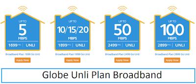 Globe Unli Plan Broadband