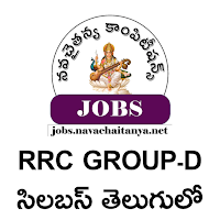 RRC Group-D detailed syllabus in telugu