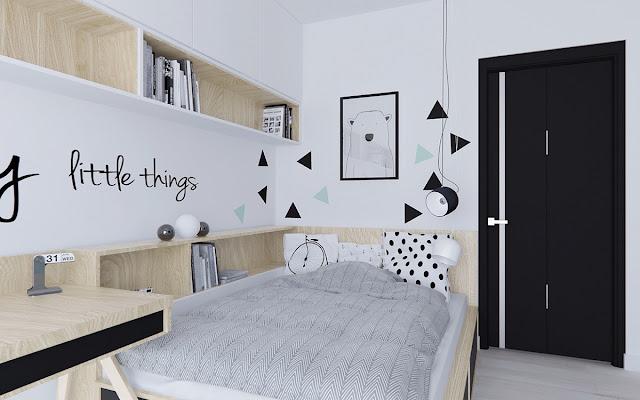 59 Desain Kamar Tidur Nuansa Hitam Putih Rumah Minimalis