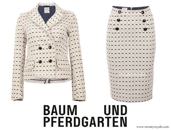 Crown Princess Victoria wore Baum Und Pferdgarten Jacey Jacket and Jakita skirt