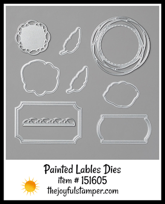 Stampin' Up! Painted Labels Dies | Nicole Steele The Joyful Stamper