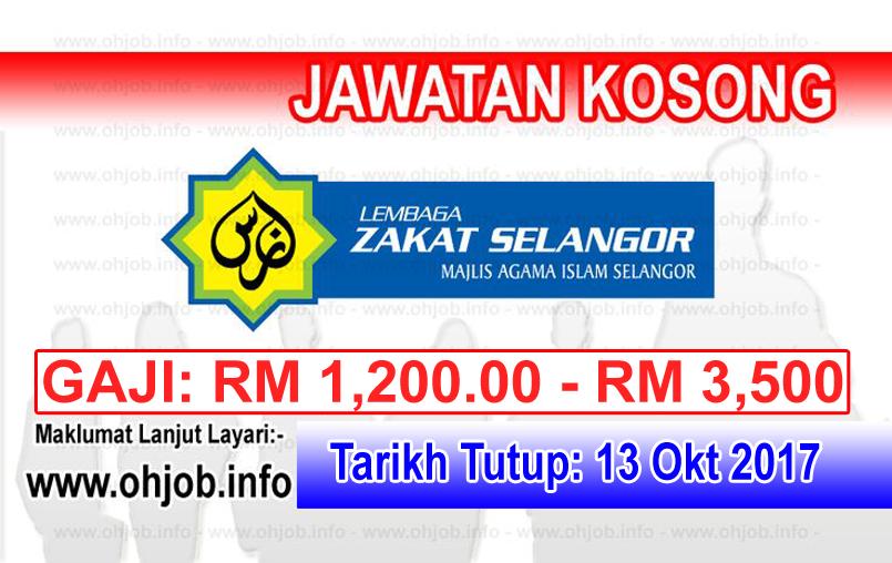 Jawatan Kerja Kosong MAIS - Lembaga Zakat Selangor logo www.ohjob.info oktober 2017