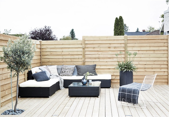 black, white and grey outdoor chicanddeco