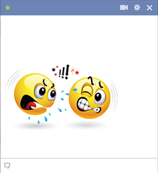 Arguing Facebook Smileys
