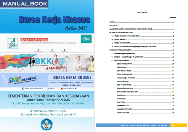 Buku Panduan BKK (Bursa Kerja Khusus) untuk Lulusan SMK
