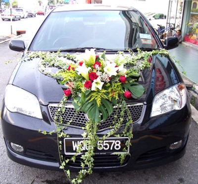 Wedding car decoration wedding snaps for Automobile decoration