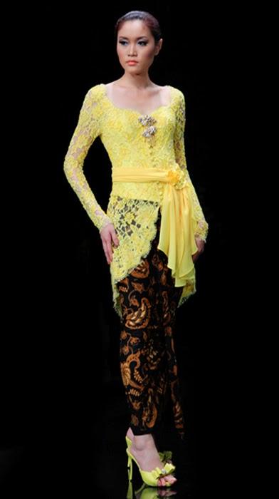 Yellow Kebaya Modern Sensation - International Kebaya ...
