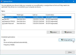 Cara Setting Defrag Otomatis di Windows 10