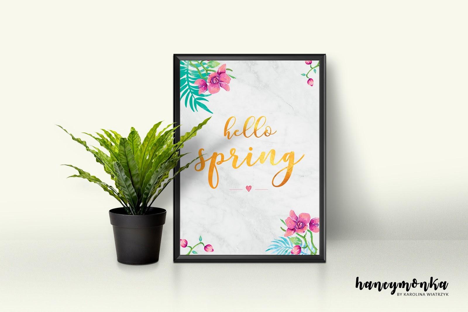wiosna, spring, plakat, plakaty, poster, posters, do druku, printable, wydrukuj, free, freebie, hancymonka, do pobrania, wiosenne plakaty