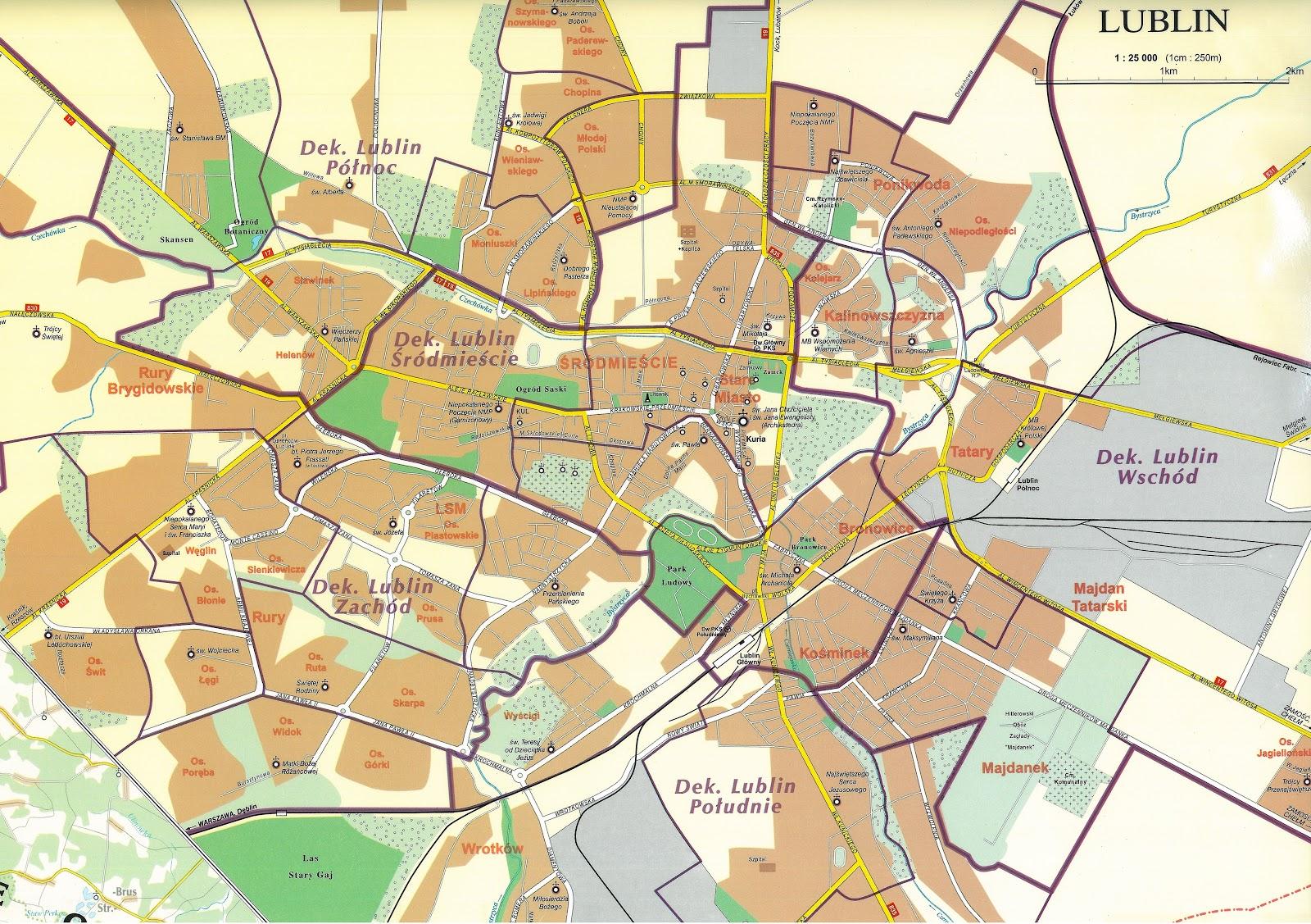 Jacek Warda Blog Prywatny Podzial Lublina Na Parafie Mapa