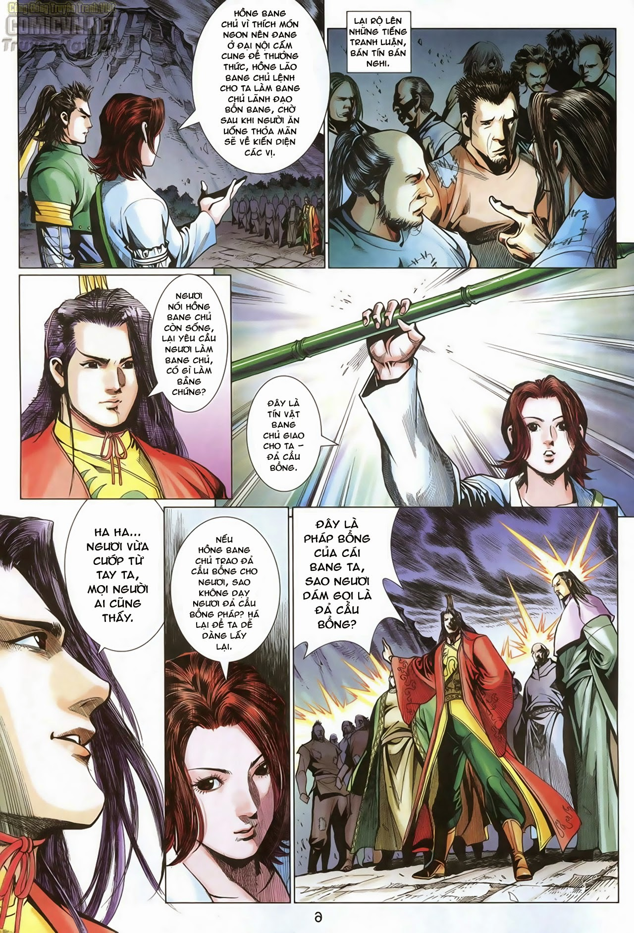 Anh Hùng Xạ Điêu anh hùng xạ đêu chap 68: di thư chân kinh - lừa tình trang 7