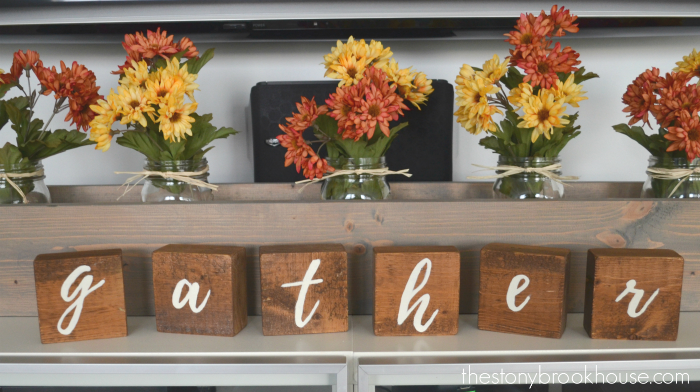 DIY 'gather' letter blocks