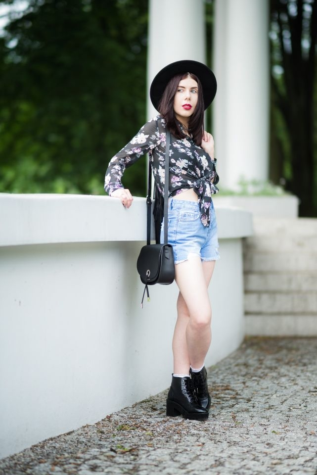 styl boho blogerka dżinsowe szorty