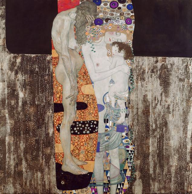 人生の三段階(女の3世代)1905年 クリムト、官能と黄金の画家とは?クリムトの見ておきたい絵画14選【a】