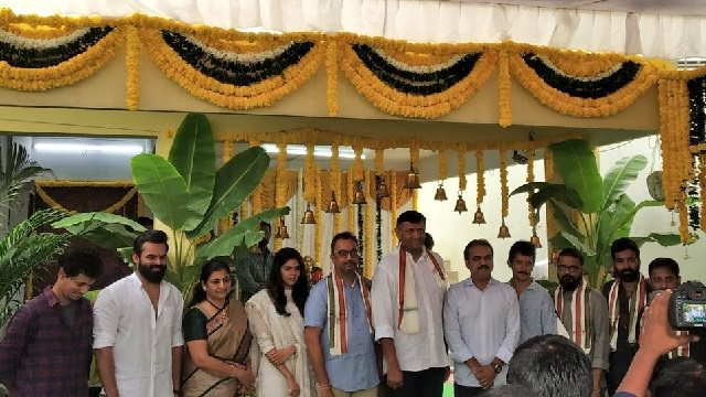 Sai Dharam Tej, Kalyani Priyadarshan, Koratala Siva and Koshore Tirumala at Chitralahari launch event