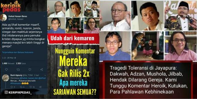 Nah Loh… Yang Hobi Teriak Toleran Pada Kemana saat Kasus Masjid Papua?