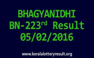 BHAGYANIDHI BN 223 Lottery Result 05-02-2016