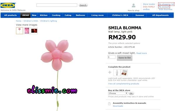 Harga Lampu Ni Rm29 90 Bentuk Bunga Memang Sesuai Untuk Bilik Anak Dara My Nuha Tu