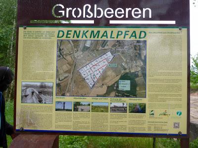 Infotafel Denkmal Rieselfeld Großbeeren