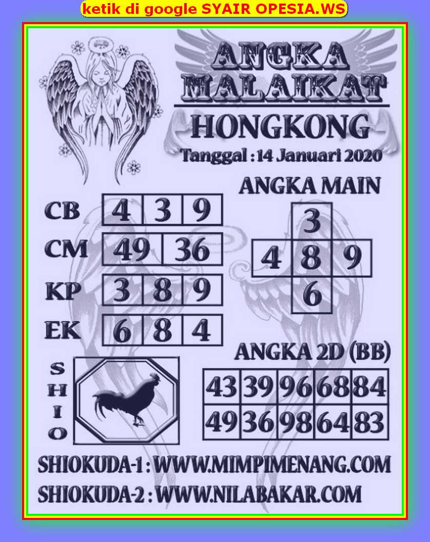 Kode syair Hongkong Selasa 14 Januari 2020 156