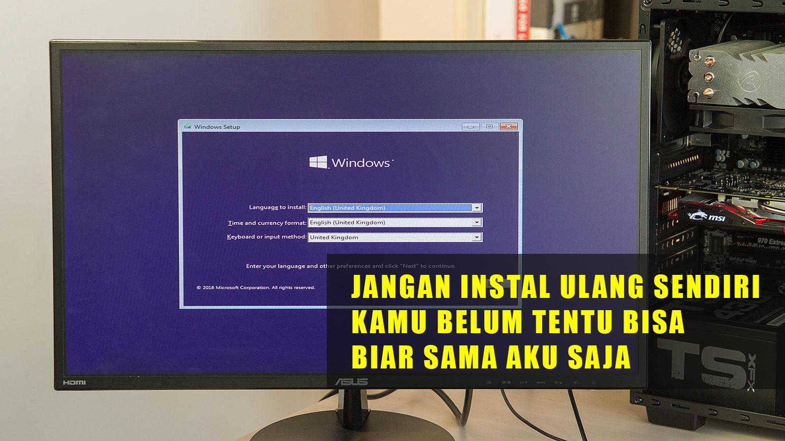 Jasa Instal Ulang Komputer Laptop Malang Terpercaya