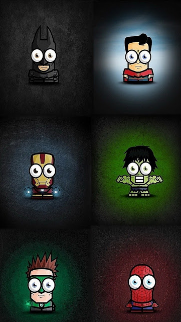 Funny The Avengers Chibi best iphones wallpapers  5s 5c 6