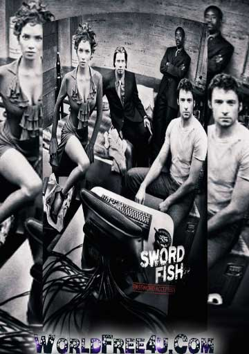 Poster Of Swordfish 2001 In Hindi Bluray 720P Free Download