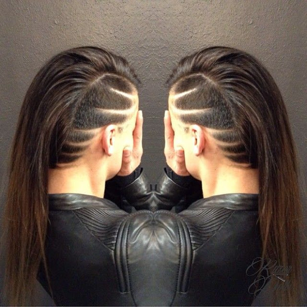 trendy hair tattoos and design
