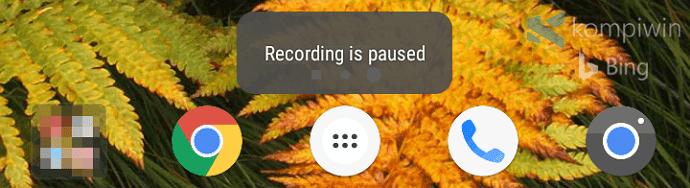 menunda proses rekaman