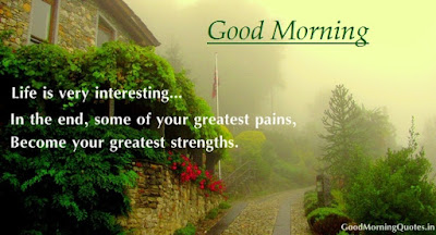 Good Morning Love Quotes: life is very interesting in the end, some of your greats pains,