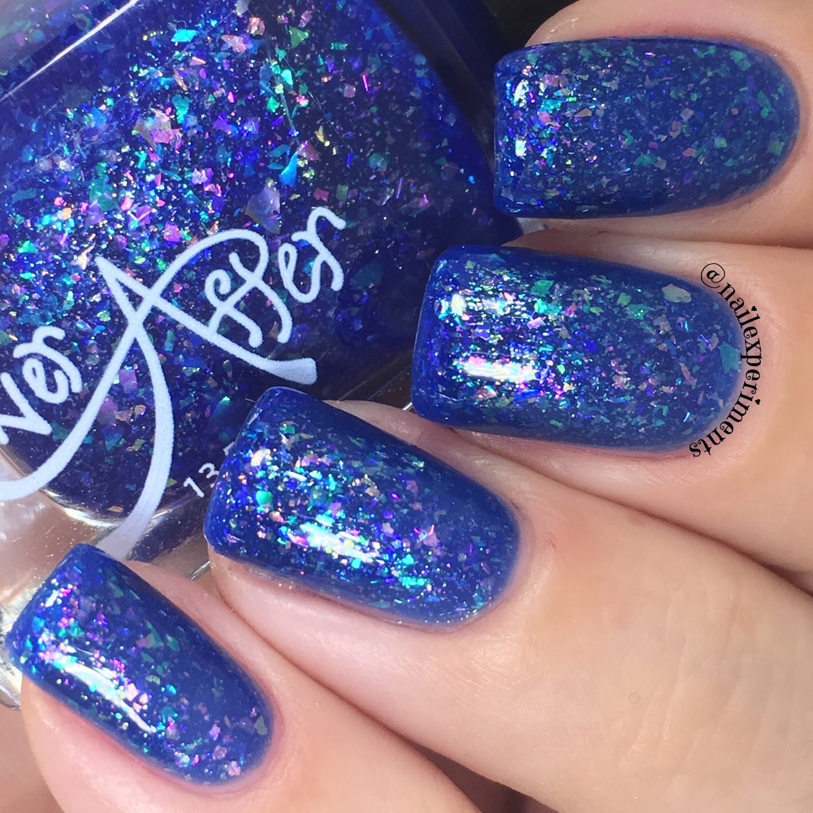 ever after polish flake it up jellies blue hawaiian swatch