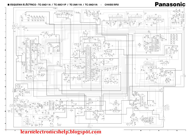 panasonic tv circuit diagram   Learn Basic Electronics