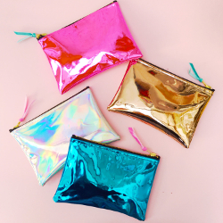 Mirror Shine Holographic Pouches