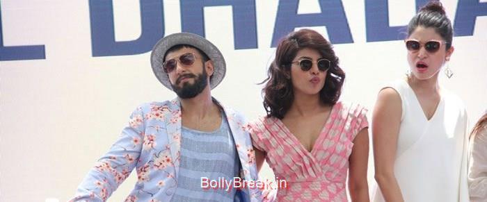 Ranveer Singh, Priyanka Chopra, Anushka Sharma, Hot Pics of Priyanka Chopra Anushka Sharma At 'Dil Dhadakne Do' Music Launch Photo Gallery