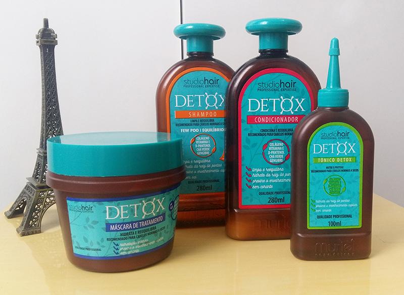 Testei a linha Detox - Studio Hair da Muriel
