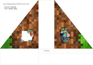Para servilleteros de Minecraft para imprimir gratis.