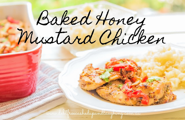 Baked Honey Mustard Chicken Click through for this quick and easy, tasty and cheap recipe