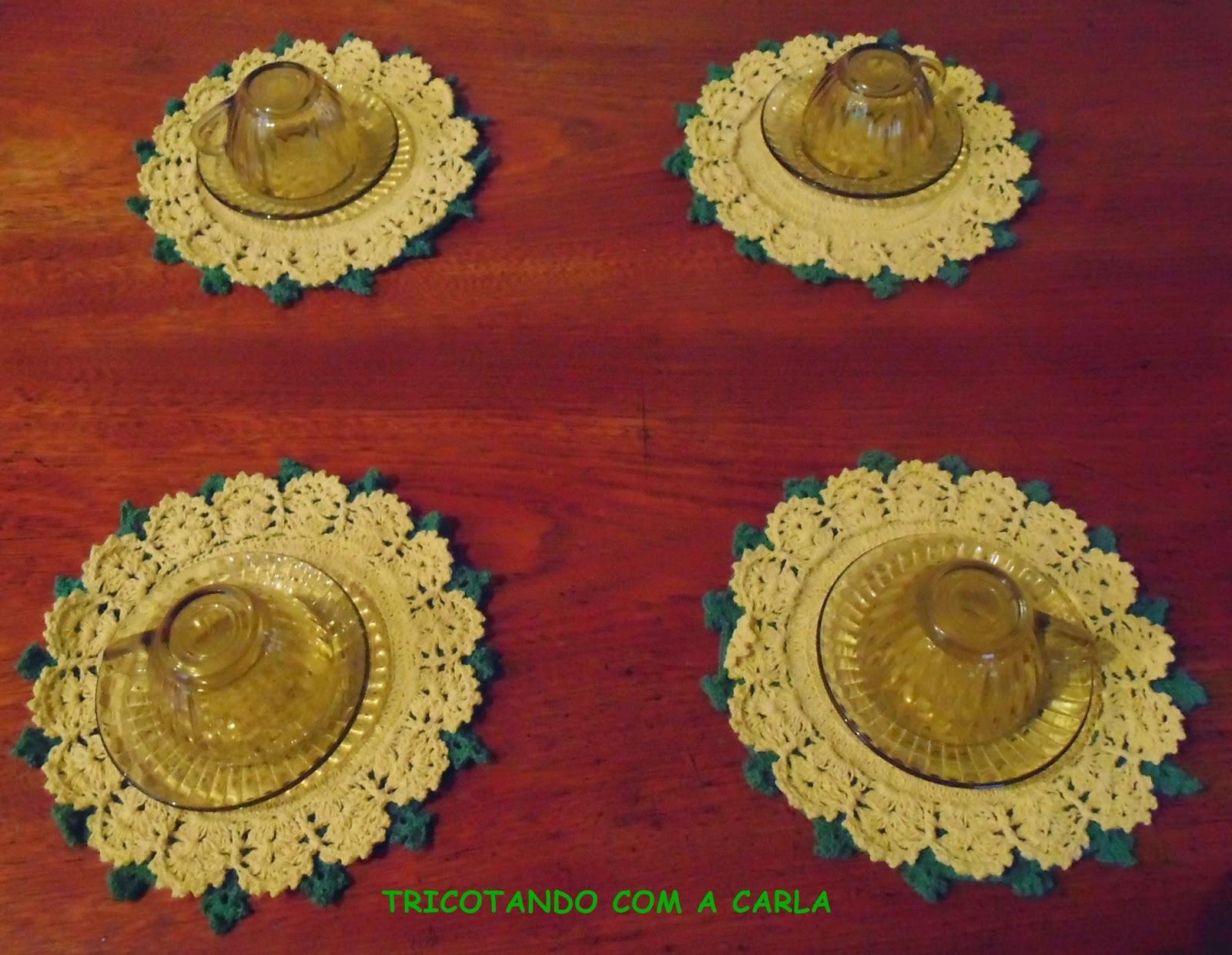 32a5ec637 Tricotando com a Carla: Sousplat de Crochê