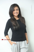 Telugu Actress Mishti Chakraborty Latest Pos in Black Top at Smile Pictures Production No 1 Movie Opening  0029.JPG