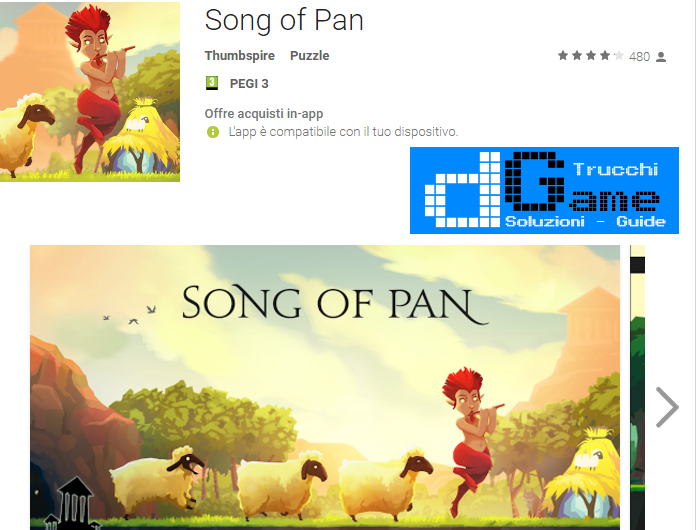 Trucchi Song of Pan Mod Apk Android v1.31