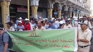 مسيرة الرباط لإسقاط خطة التقاعد اليوم 24 يوليوز- صور