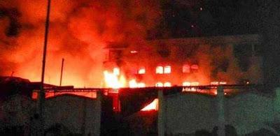 اندلاع حريق ضخم فى محافظة الدقهلية
