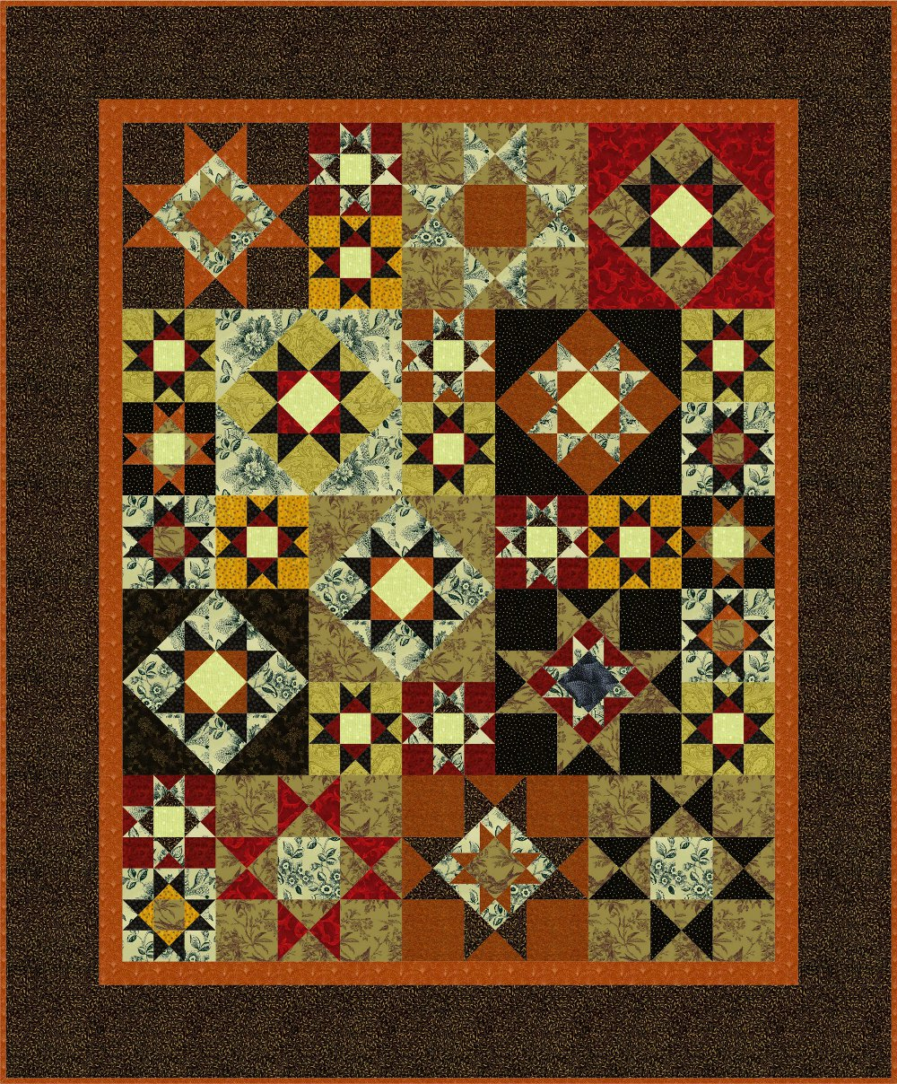 Busy Bee No 16 Quilt A Study In Ohio Stars