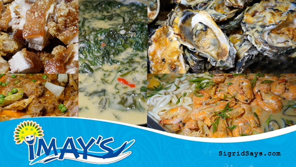 Bacolod restaurants - Imay's Bar and Restaurant - Pinoy native foods -seafoods